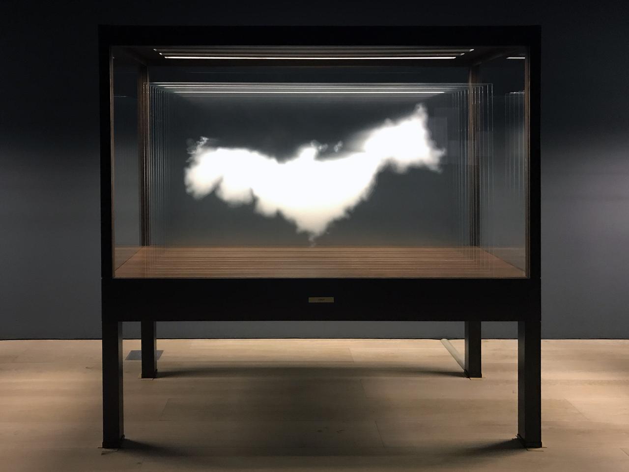 画像: 《雲(日本)》The Cloud (Japan) 2016 高透過ガラス、セラミック・インク、木材、照明 Ultra clear glass, ceramic ink, wood, light  199.5 × 205 × 81 cm 作家蔵| Collection of the Artist Courtesy: Sean Kelly Gallery and Art Front Gallery photo©cinefil:ms