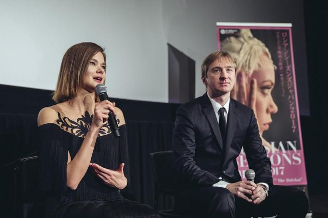 画像: 右よりプロデューサー ドミートリー・ダヴィデンコさん、出演女優でバレリーナのアンナ・イサーエワさん