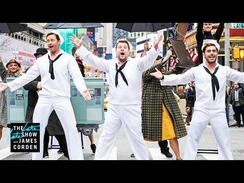画像: Crosswalk the Musical on Broadway (w/ Hugh Jackman, Zendaya & Zac Efron) youtu.be