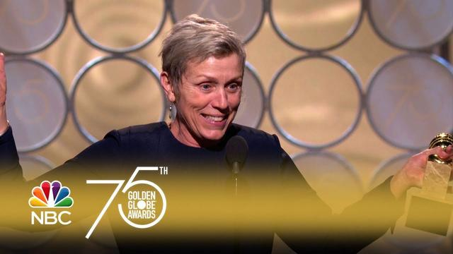 画像: Frances McDormand Wins Best Actress in a Drama at the 2018 Golden Globes youtu.be