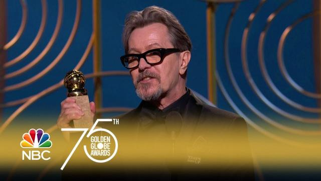 画像: Gary Oldman Wins Best Actor in a Drama at the 2018 Golden Globes youtu.be