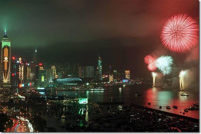 画像: 1997年7月1日、香港返還の日 www.britishempire.co.uk