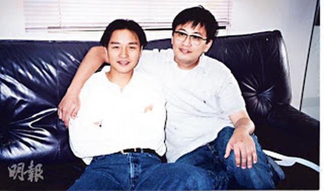 画像: レスリー・チャン(画面・左)とウォン・カーウァイ(画面・右) asianentertainment-news.blogspot.jp
