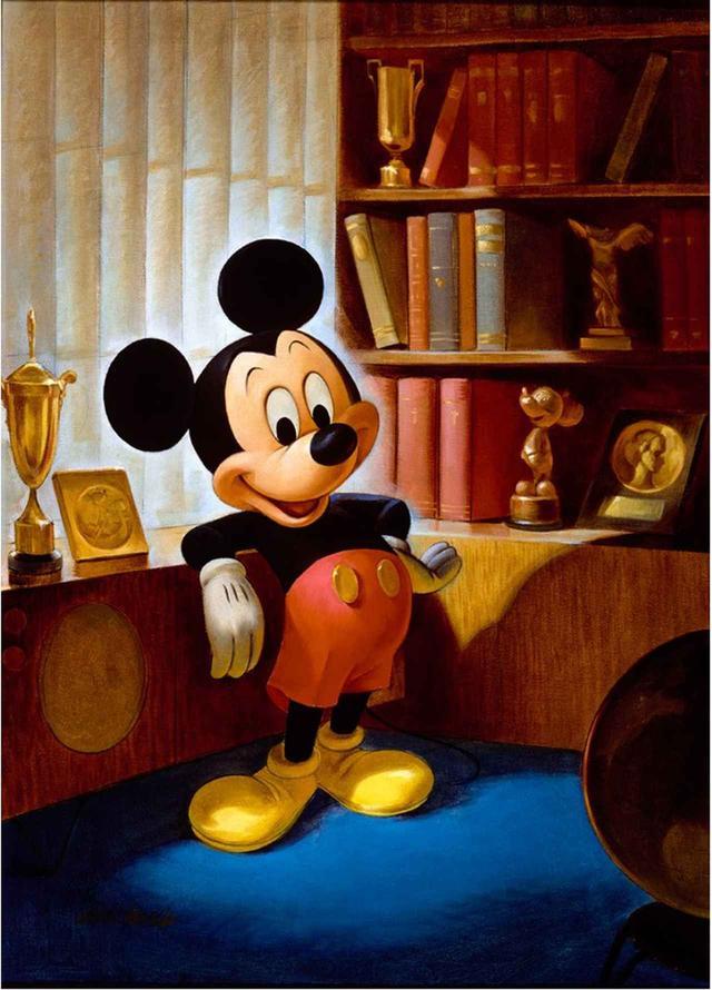 画像: ジョン・ヘンチ画 ミッキーマウスのポートレート(1953 年) ©Disney