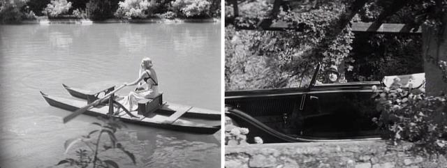 画像: ボート遊びをするガビー。一目惚れしたロベルトの父であるレオナルドが車から彼女に声をかける。