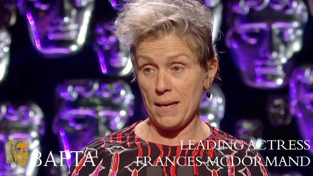 画像: Frances McDormand wins Leading Actress BAFTA - The British Academy Film Awards: 2018 - BBC One youtu.be