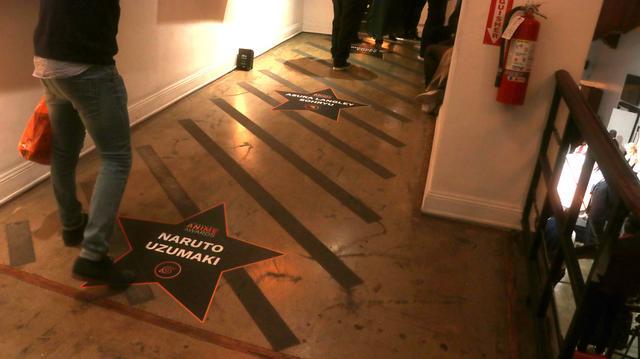 画像: 会場内の床にはハリウッドにちなんでこんな演出も。