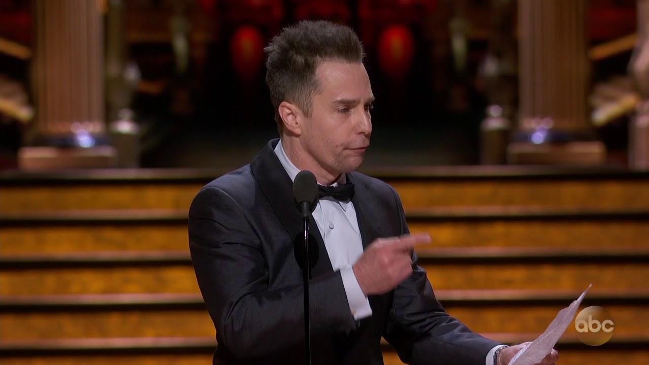 画像: Sam Rockwell's Acceptance Speech for Best Actor in a Supporting Role   2018 Oscars youtu.be