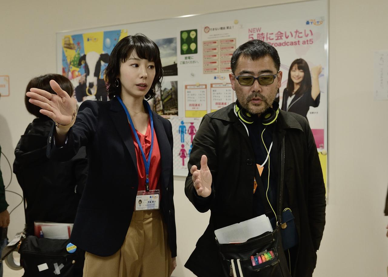 画像: 夏帆と武正晴監督 ©2018「きばいやんせ!私」製作委員会