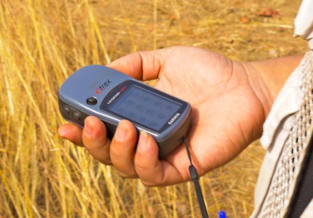 画像: GPSで位置情報を計測する