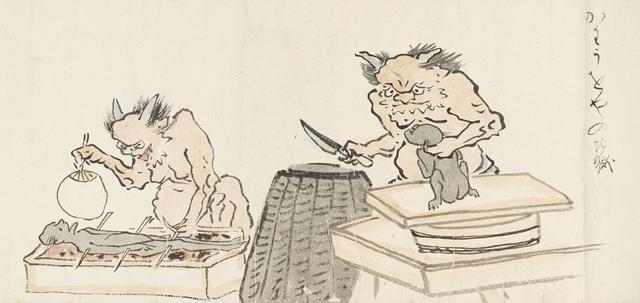 画像: 耳鳥斎「地獄図巻」(部分) 大阪歴史博物館蔵(通期展示 ※巻替え)