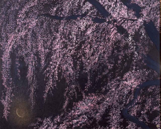 画像: 千住博《夜桜》2001(平成13)年 紙本・彩色 山種美術館