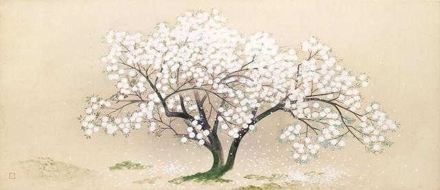画像: 小林古径《清姫》のうち「入相桜」1930(昭和5)年 紙本・彩色 山種美術館