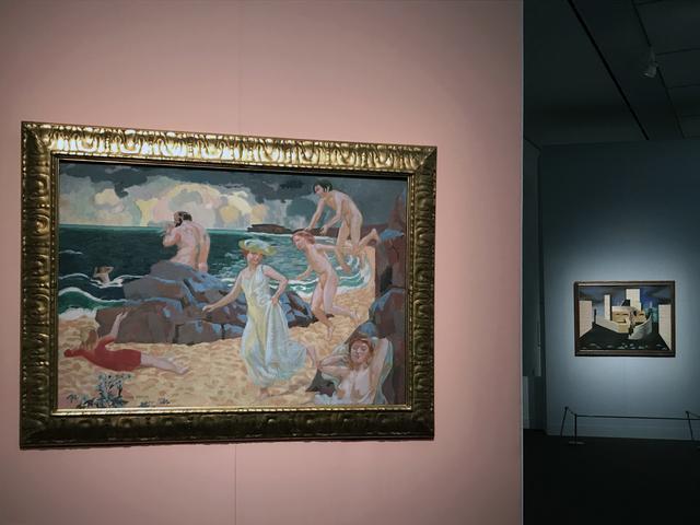 画像: 左手前:モーリス・ドニ 《ポリュフェモス》 1907年、右奥:ジャン・リュルサ 《東方の風景》 1927年 photo©moichisaito