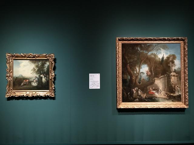 画像: 左:ニコラ・ランクレ 《森のはずれの集い》 1720年代後半、右:ジャック・ド・ラジュー 《狩猟後の休息》 1742年頃 photo©moichisaito