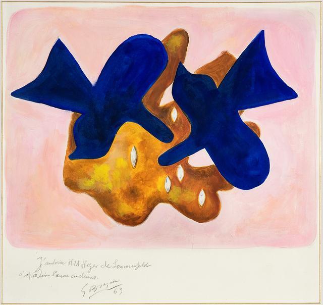 画像: ジョルジュ・ブラック ≪青い鳥、ピカソへのオマージュ≫ 1963年 グワッシュ、紙 サン=ディエ=デ=ヴォージュ市立ジョルジュ・ブラック‐メタモルフォーシス美術館蔵 Archives Armand Israël
