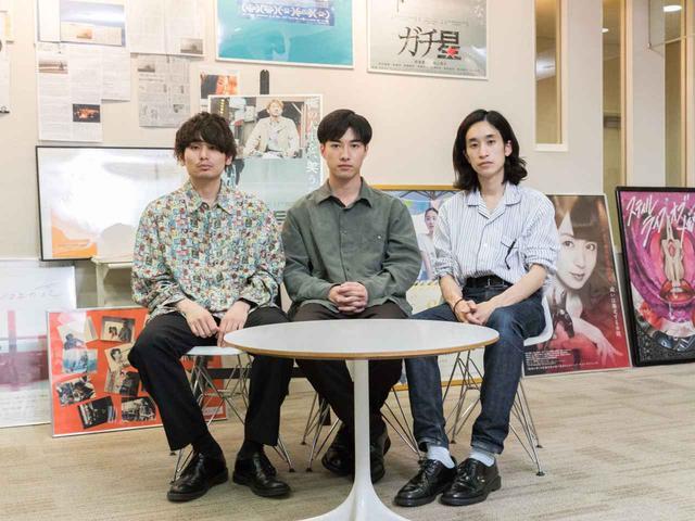 画像: 左より内山拓也監督、俳優 福山翔大、スタイリストの松田稜平