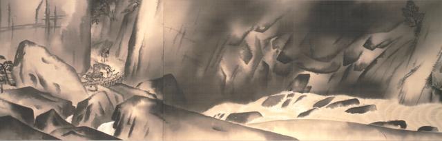 画像: 重要文化財「生々流転」(部分) 1923年、横山大観、東京国立近代美術館蔵、京都展は巻き替えあり