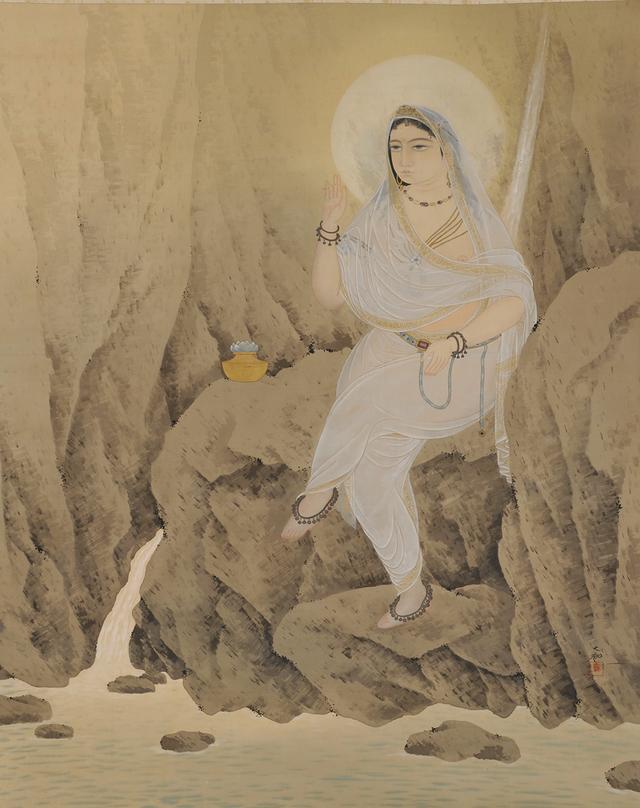 画像: 「白衣観音」  1908年、横山大観、個人蔵