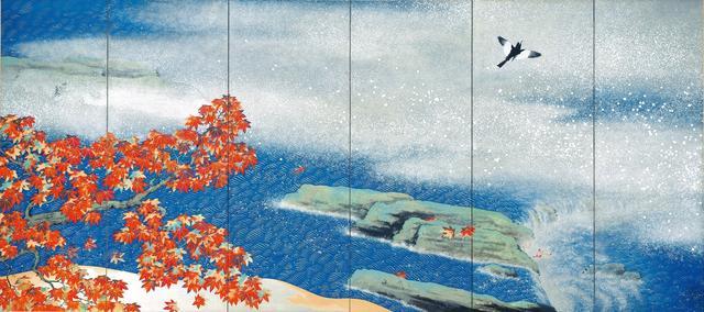 画像: 「紅葉」 1931年、横山大観、足立美術館蔵(右隻)  東京展:5月8日~5月27日  京都展:6月8日~7月1日