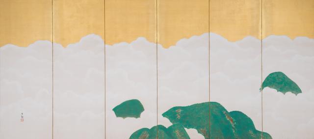 画像: 「群青富士」 1917年頃、横山大観、静岡県立美術館蔵(左隻)、 東京展:4月13日~5月6日  京都展:7月3日~7月22日