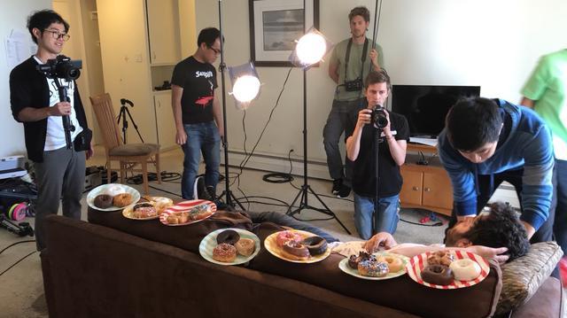 画像: 「Donutphobia」制作風景