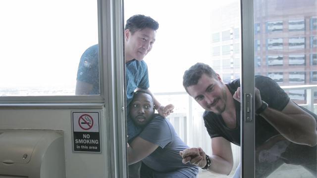 画像: 「Donutphobia」より。写真左から/OBie Sho、Karim Vilorosa、Dylan Nadalin