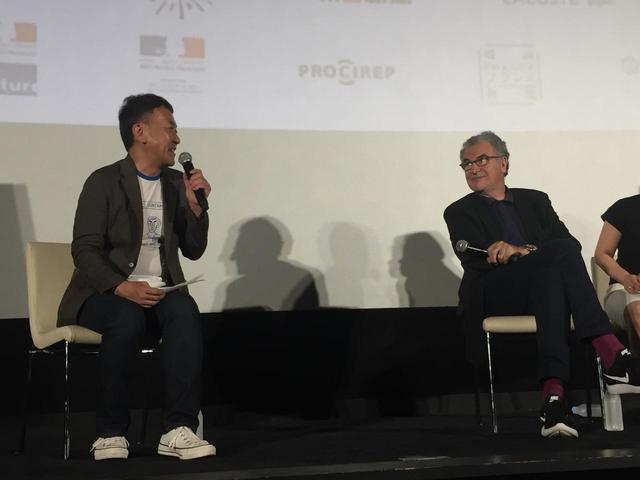 画像: (左)より矢田部吉彦(東京国際映画祭プログラミング・ディレクター)、セルジュ・トゥビアナ(ユニフランス会長/映画評論論家)