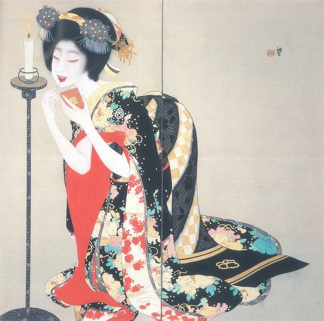 画像: 岡本神草《口紅》大正7年(1918) 京都市立芸術大学芸術資料館蔵