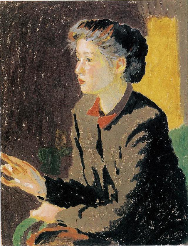 画像: 小磯良平《婦人像》1951年  40.0 × 31.4cm サクラアートミュージアム蔵