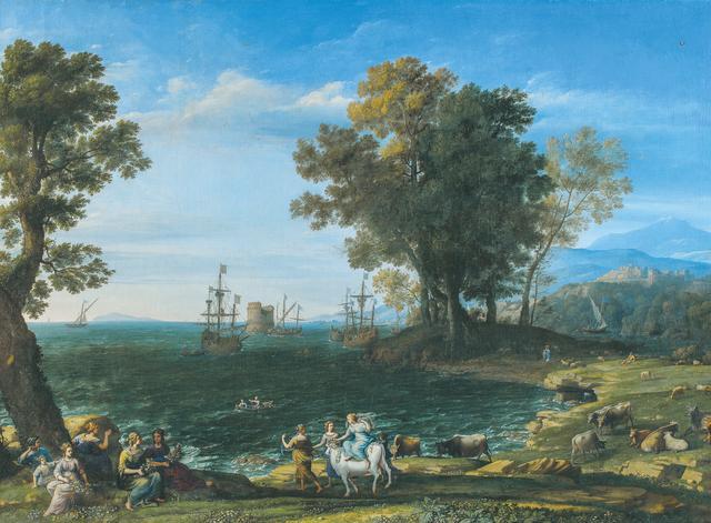 画像: クロード・ロラン 《エウロペの掠奪》 1655年 油彩・カンヴァス Ⓒ The Pushkin State Museum of Fine Arts, Moscow.