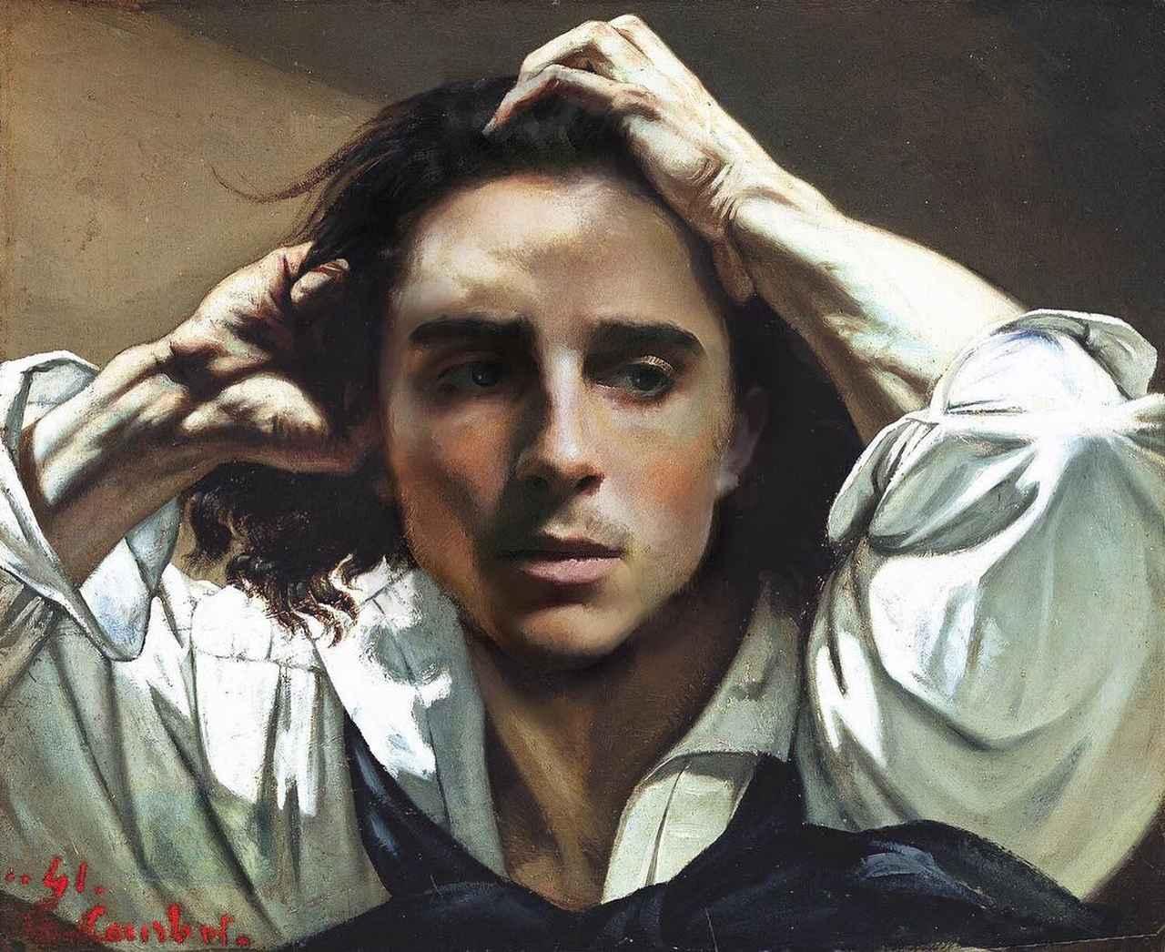 画像1: badly photoshopped timmyさんはInstagramを利用しています:「The Desperate Man, 1844-1845 by Gustave Courbet #timotheechalamet #chalametinart」 www.instagram.com