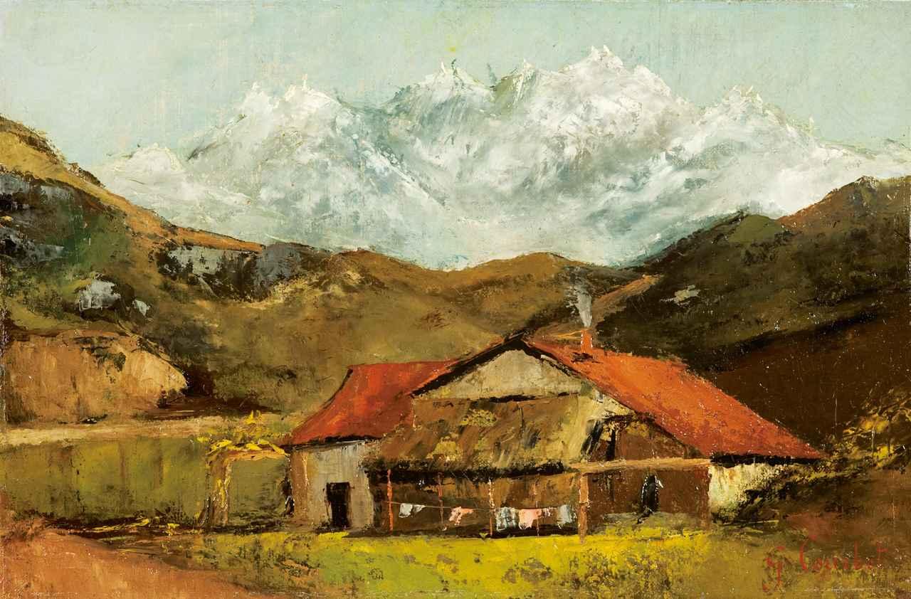 画像: ギュスターヴ・クールベ《山の小屋》1874年頃油彩・カンヴァスⒸ The Pushkin State Museum of Fine Arts, Moscow.