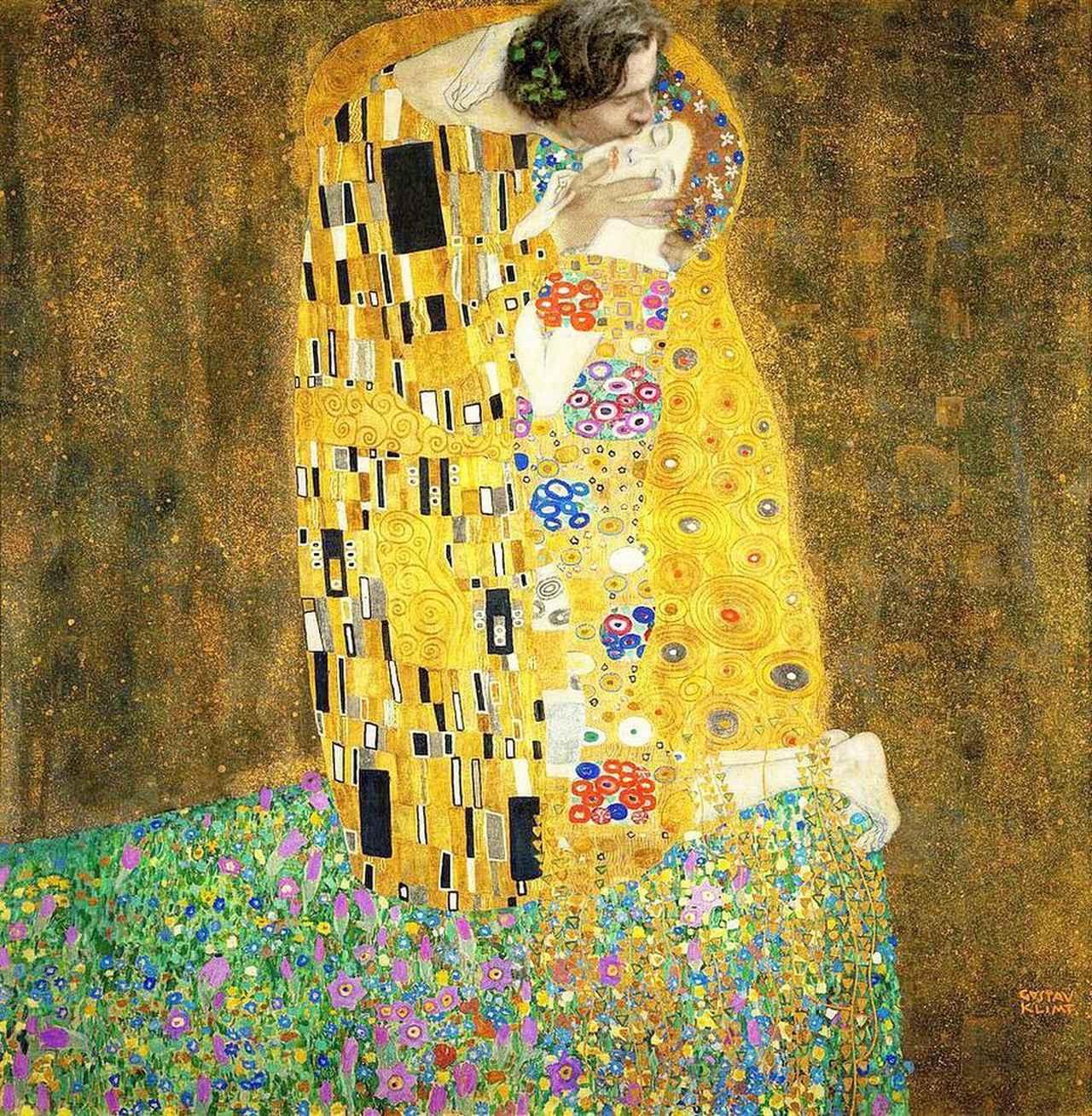 画像1: badly photoshopped timmyさんはInstagramを利用しています:「The Kiss, 1907-1908 by Gustav Klimt #timotheechalamet #chalametinart」 www.instagram.com