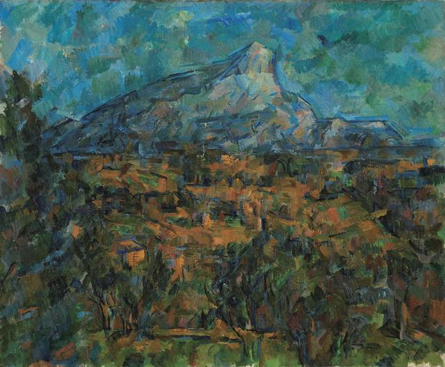 画像: ポール・セザンヌ 《サント=ヴィクトワール山、レ・ローヴからの眺め》 1905-06年 油彩・カンヴァス Ⓒ The Pushkin State Museum of Fine Arts, Moscow.