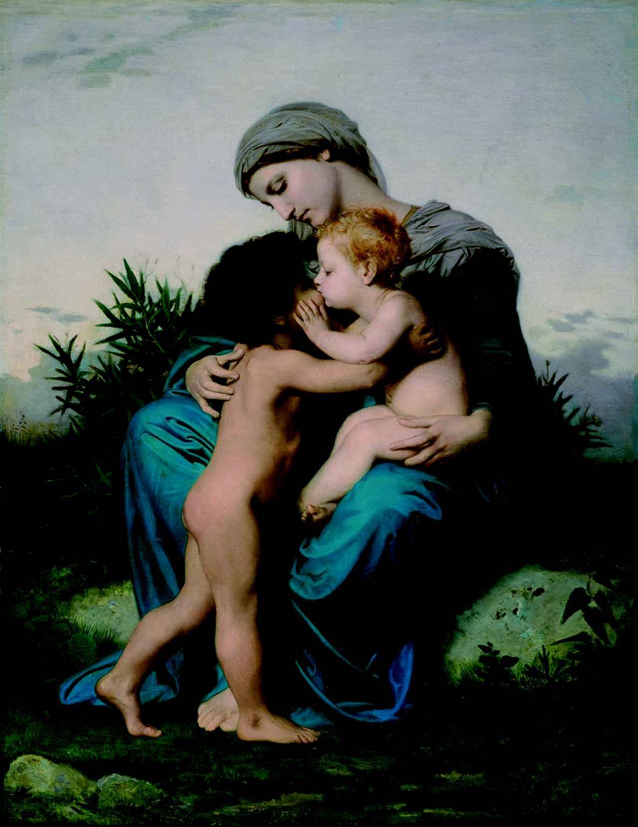 画像: ウィリアム=アドルフ・ブーグロー《兄弟愛》1851年 Gift of the Estate of Thomas Wigglesworth, 08.186 Photograph © Museum of Fine Arts, Boston