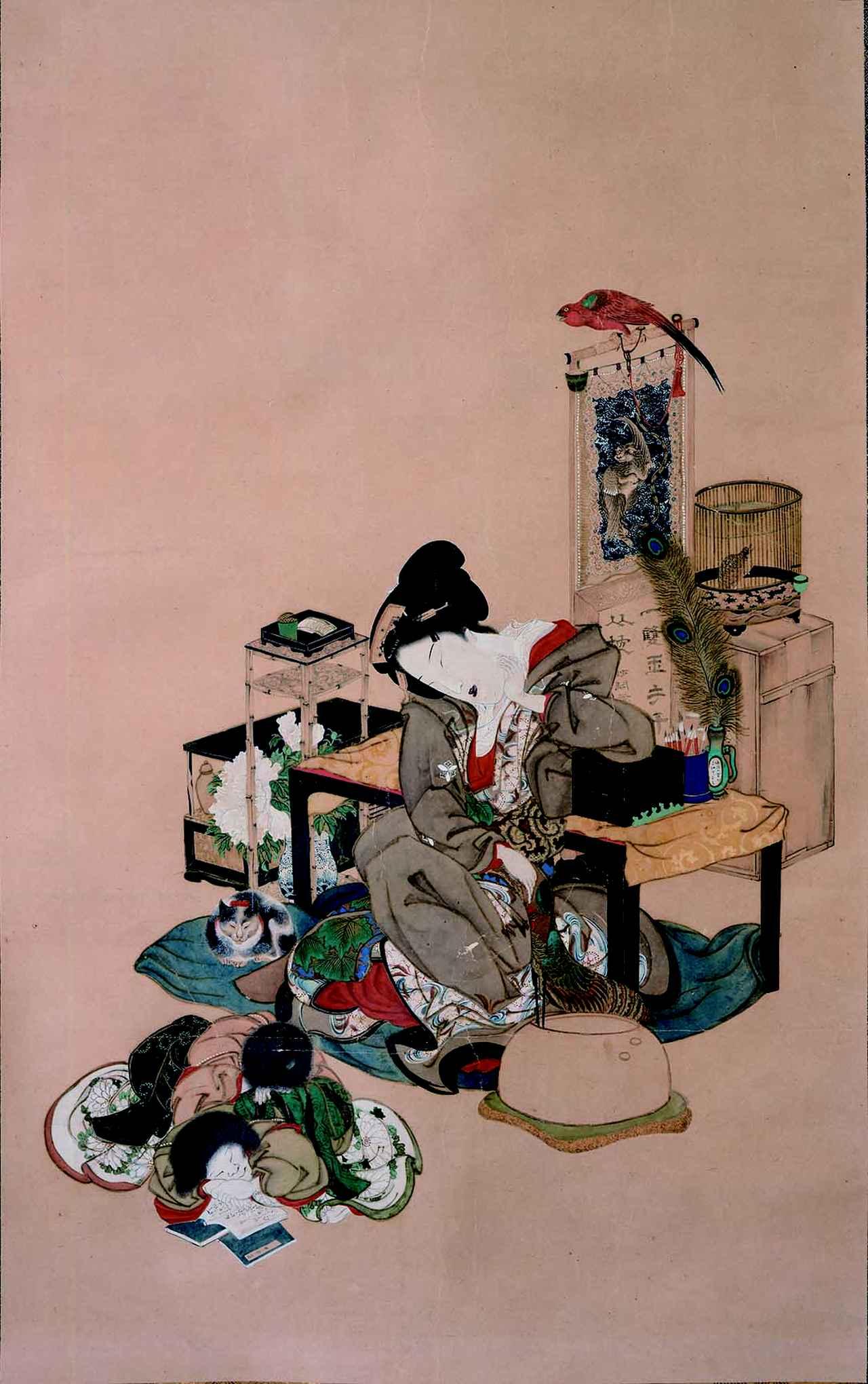 画像: としか《見立 四睡図》江戸時代、1844(天保15)年 Fenollosa-Weld Collection, 11.4638 Photograph © Museum of Fine Arts, Boston