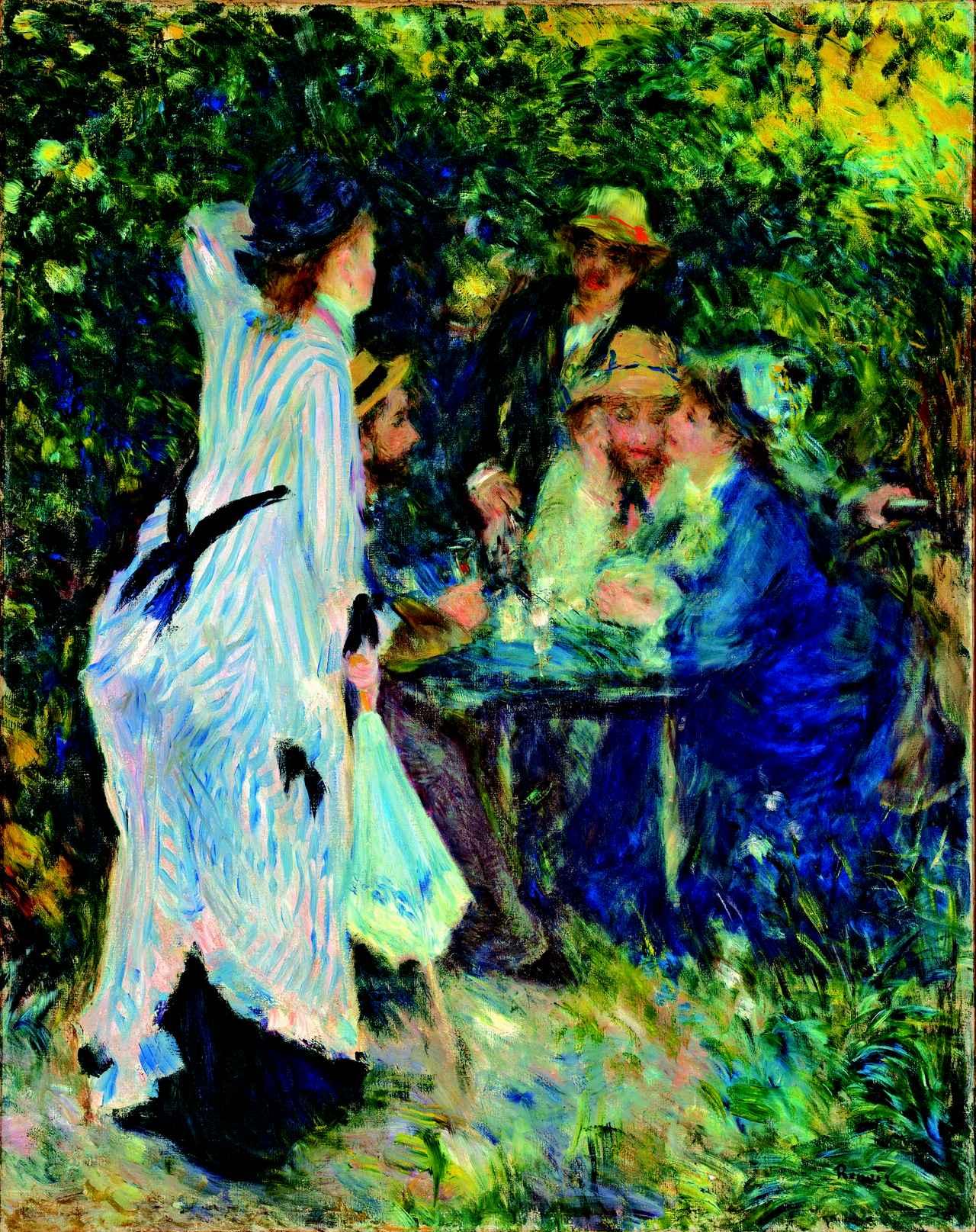画像: ピエール=オーギュスト・ルノワール 《庭にて、ムーラン・ド・ラ・ギャレットの木陰》 1876年 油彩・カンヴァス Ⓒ The Pushkin State Museum of Fine Arts, Moscow.
