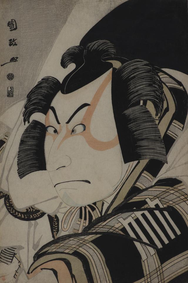 画像: 歌川国政「二代目中村仲蔵の松王丸」寛政8年(1796) 大判錦絵 (後期展示) ©︎Lee E . Dirks Collection