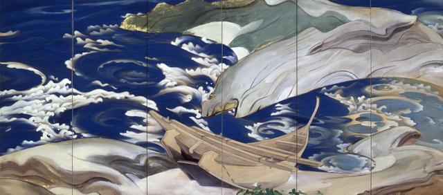 画像: 川端龍子《鳴門》(右隻)1929(昭和4)年 絹本・彩色 山種美術館