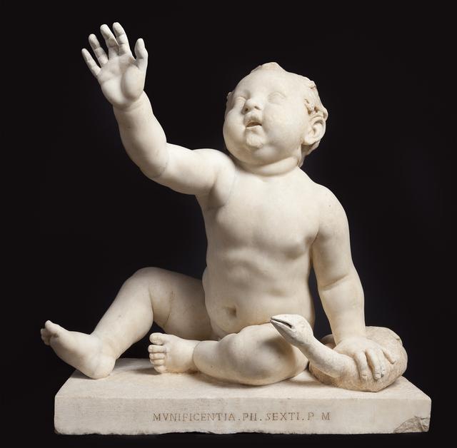画像: 《プットーとガチョウ》 1世紀半ば ヴァチカン美術館蔵 61×63×44cm 大理石 Città del Vaticano, Musei Vaticani