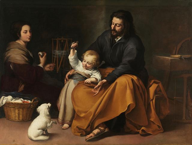 画像: バルトロメ・エステバン・ムリーリョ《 小鳥のいる聖家族》 1650 年頃 マドリード、プラド美術館蔵 © Museo Nacional del Prado