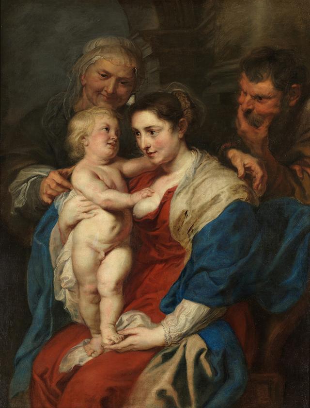 画像: ペーテル・パウル・ルーベンス《聖アンナのいる聖家族》 1630 年頃 マドリード、プラド美術館蔵 © Museo Nacional del Prado
