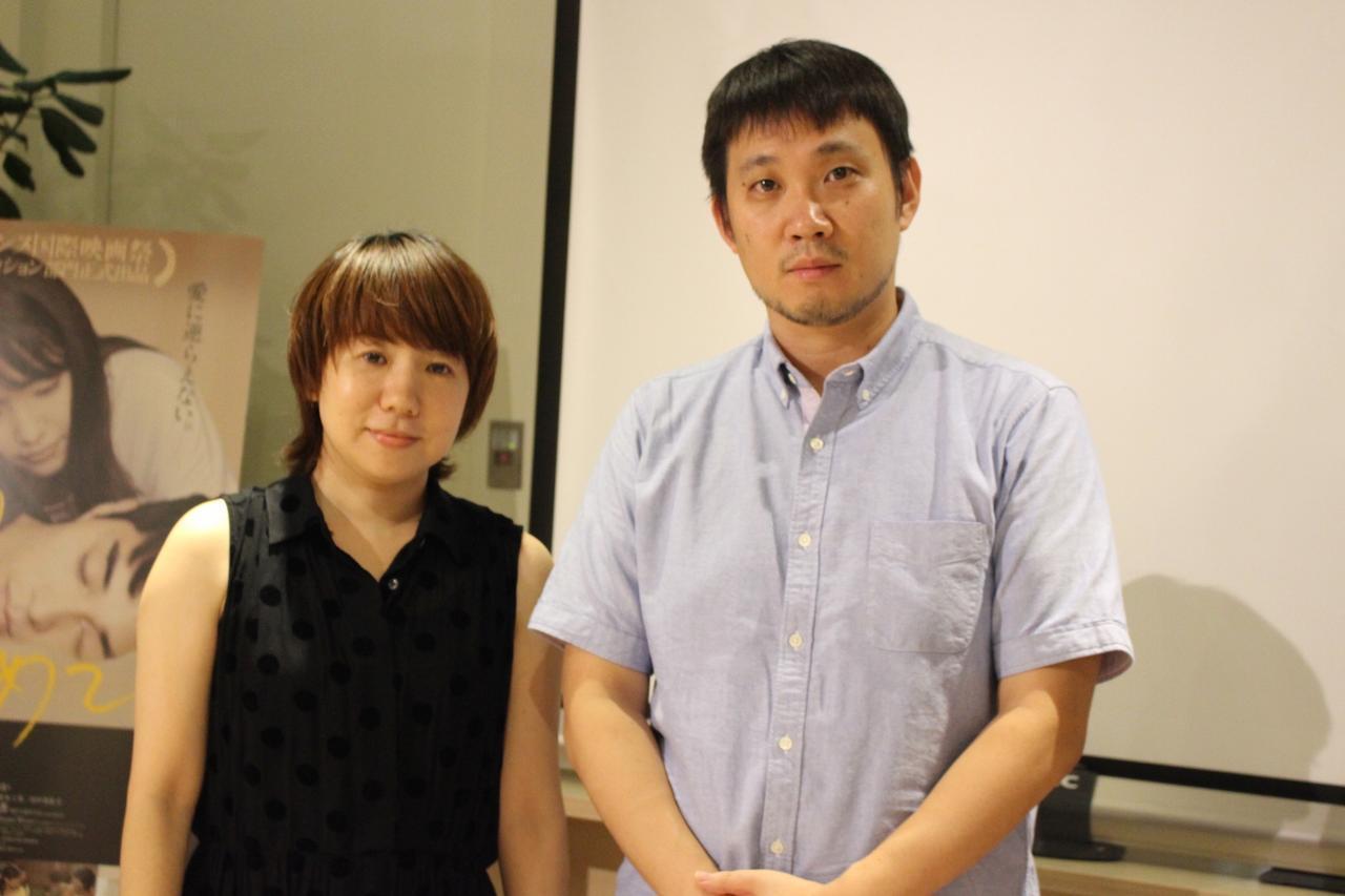 画像: 原作者・柴崎友香さんと濱口竜介監督