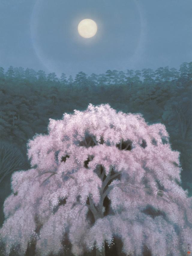 画像: 《花明り》東山魁夷 1968年 額装、紙本彩色 126.5×96.0cm 株式会社大和証券グループ本社蔵