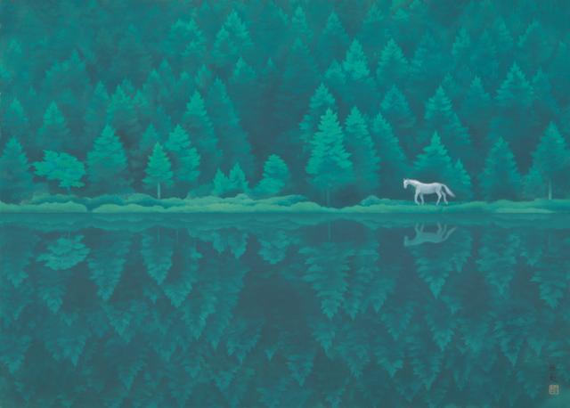 画像: 《緑響く》東山魁夷 1982年 額装、紙本彩色 84.0×116.0cm 長野県信濃美術館 東山魁夷館蔵