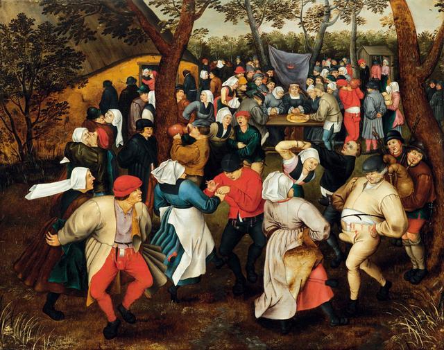 画像: ピーテル・ブリューゲル2世《野外での婚礼の踊り》 1610年頃 Private Collection