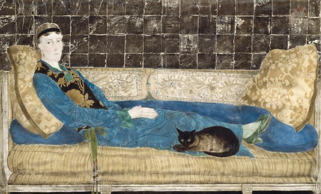 画像: 藤田嗣治 《エミリー・クレイン=シャドボーンの肖像》 1922年 油彩、銀箔、金粉・カンヴァス シカゴ美術館(アメリカ)蔵 © The Art Institute of Chicago / Art Resource, NY © Fondation Foujita / ADAGP, Paris & JASPAR, Tokyo, 2017 E2833