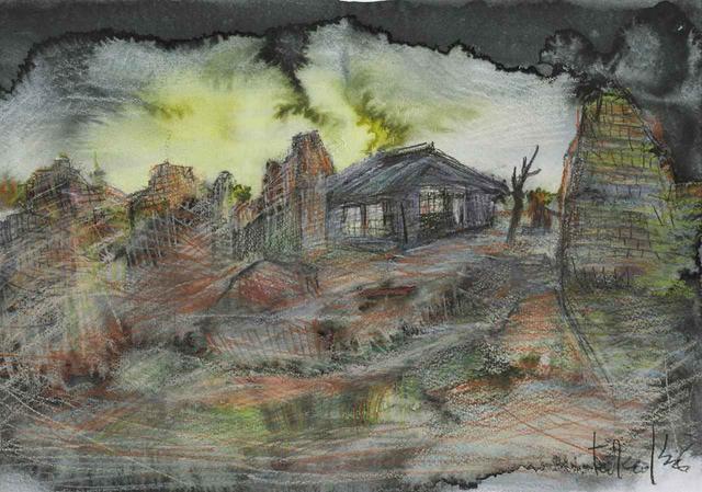 画像: 『父と暮せば』より「廃墟の中の家」(2003年)