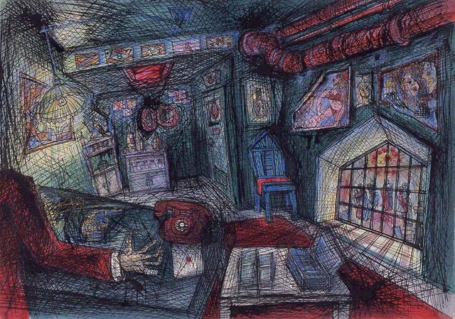 画像: 『東京流れ者』より「ジャズ喫茶マンホールの支配人室」(1972年頃)